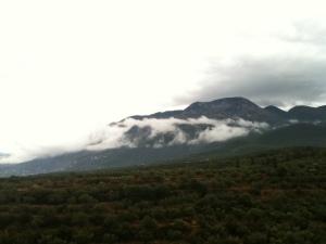 Berg mit Nebel, Foto: (c) Petra Gust-Kazakos