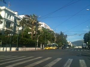 Freie Bahn in Athen, Foto: © Petra Gust-Kazakos