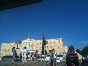 Alles ruhig: der Syntagma-Platz und das Parlament, Foto: © Petra Gust-Kazakos