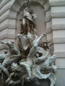 """Wien, Michaelertrakt der Hofburg, """"Die Macht zur See"""" von Rudolf Weyr. Foto: © Petra Gust-Kazakos"""